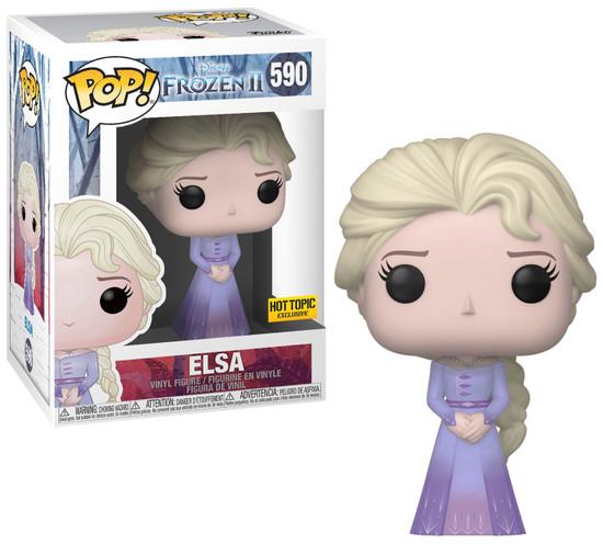 Funko Frozen 2 POP! Disney Elsa Exclusive Vinyl Figure #590 [Purple Dress]