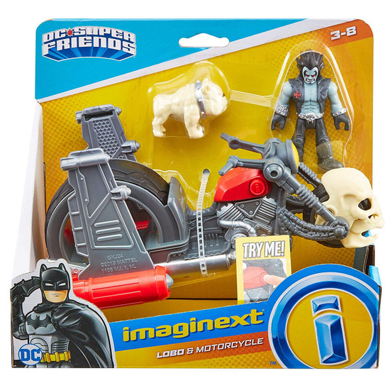 Fisher Price DC Super Friends Imaginext Lobo & Motorcycle 3-Inch Figure Set