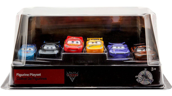 Disney / Pixar Cars Cars 3 6 Piece PVC Figurine Playset [Includes Jackson Storm & Tim Treadless, Damaged Package]