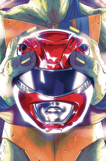 Boom Studios Power Rangers & Teenage Mutant Ninja Turtles #1 Comic Book [Goni Montes Cover D]