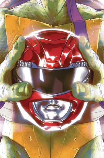 Boom Studios Power Rangers & Teenage Mutant Ninja Turtles #1 Comic Book [Goni Montes Cover E]