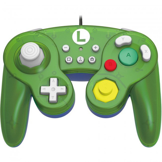 Nintendo Super Mario Switch Luigi GameCube-Style Switch Battle Pad Wired Controller