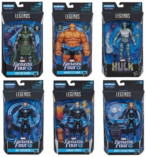 Fantastic Four Marvel Legends Super Skrull Series Set of 6 Action Figures