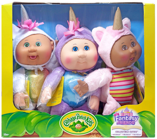 Cabbage Patch Kids Cuties Fantasy Friends 9-Inch Plush 3-Pack