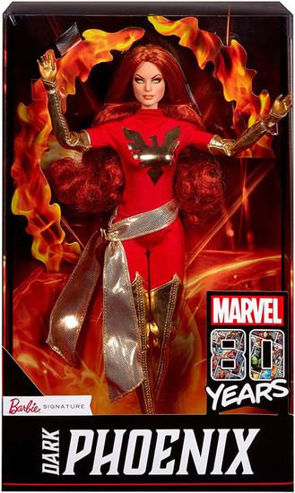 Marvel 80th Anniversary Barbie Signature Dark Phoenix Exclusive Doll