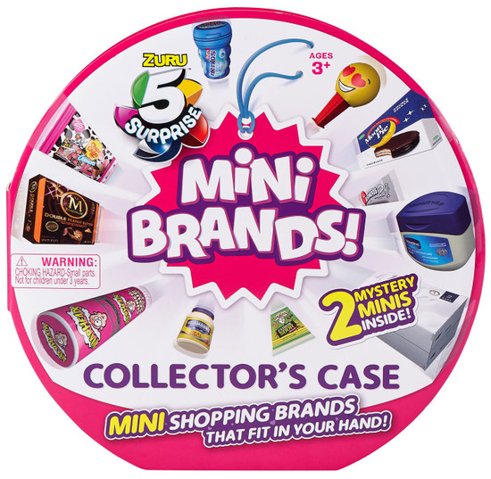 5 Surprise Mini Brands! Series 1 Collector Case [Includes 2 Minis!] (Pre-Order ships May)