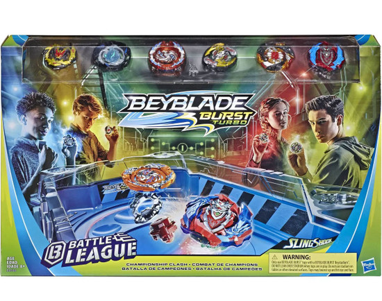Beyblade Burst Turbo Slingshock Battle League Championship Clash Battle Set