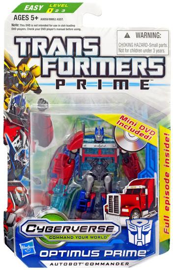 Transformers Cyberverse Commander Optimus Prime Commander Action Figure [With Mini DVD]