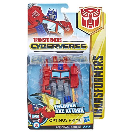 Transformers Cyberverse Optimus Prime Warrior Action Figure [Energon Axe Attack]