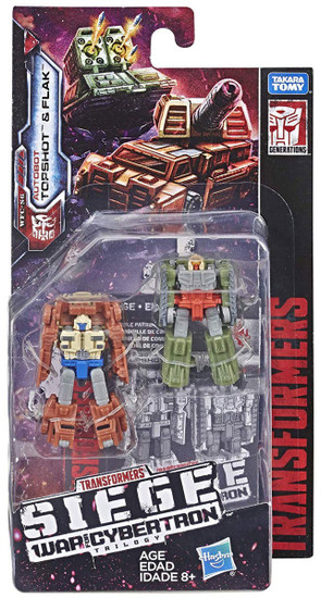 Transformers Generations Siege: War for Cybertron Trilogy Topshot & Flak Micromaster Action Figure 2-Pack WFC-S6 [Autobot Battle Patrol]