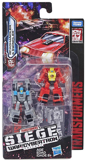 Transformers Generations Siege: War for Cybertron Trilogy Roadhandler & Swindler Micromaster Action Figure 2-Pack WFC-S4 [Autobot Race Car Patrol]