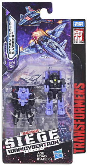 Transformers Generations Siege: War for Cybertron Trilogy Storm Cloud & Visper Micromaster Action Figure 2-Pack WFC-S5 [Decepticon Airstrike Patrol]