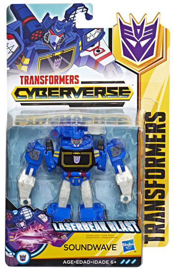 Transformers Cyberverse Soundwave Warrior Action Figure