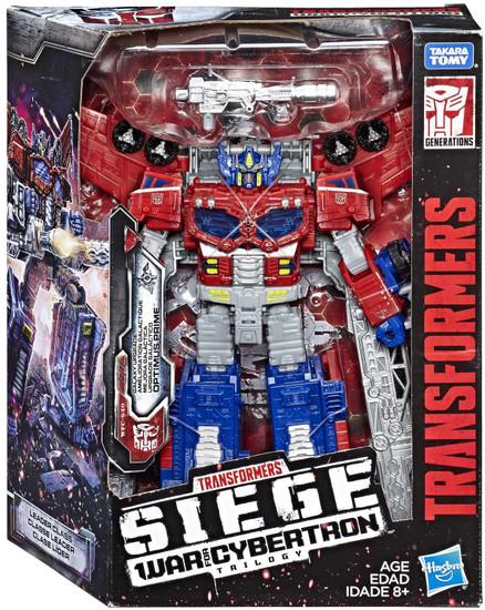 Transformers Generations Siege: War for Cybertron Trilogy Optimus Prime Leader Action Figure WFC-S40