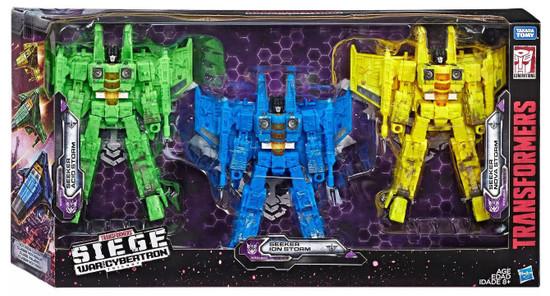 Transformers Generations Siege: War for Cybertron Trilogy Seeker Acid Storm, Seeker Ion Storm & Seeker Nova Storm Exclusive Voyager Action Figure 3-Pack (Pre-Order ships August)