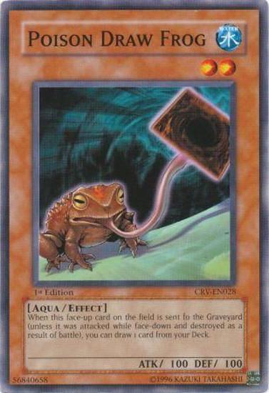 YuGiOh Cybernetic Revolution Common Poison Draw Frog CRV-EN028