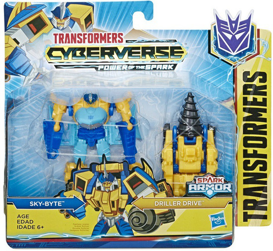Transformers Cyberverse Power of the Spark Spark Armor Sky-Byte Battle Class Action Figure [Driller Drive]