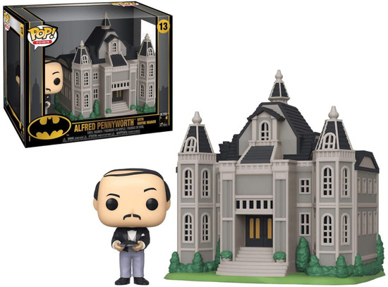 Funko DC Batman 80th POP! Town Alfred Pennyworth with Wayne Manor Vinyl Figure Set #13