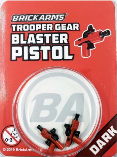 BrickArms Trooper Gear Blaster Pistols (x2) Minifigure Accessory [Dark, Overmolded]
