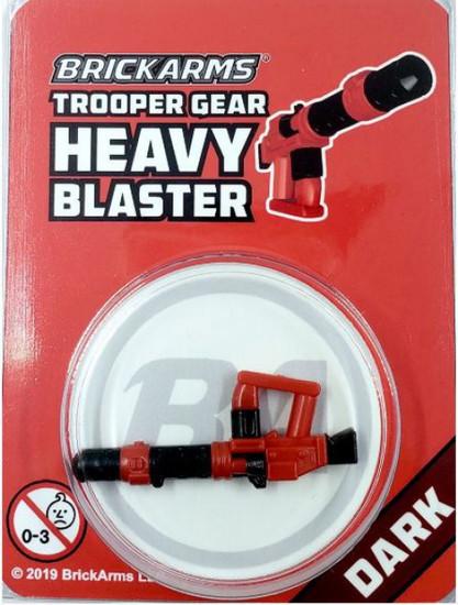 BrickArms Trooper Gear Heavy Blaster Minifigure Accessory [Dark, Overmolded]