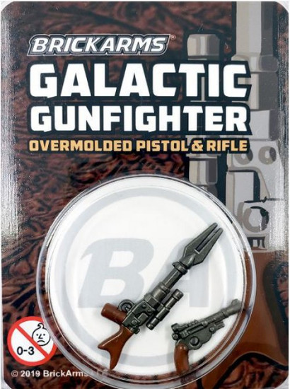 BrickArms Galactic Gunfighter Rifle and Pistol Minifigure Accessory [Overmolded]