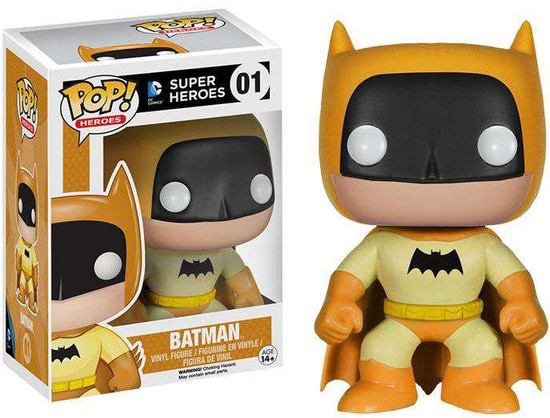 Funko DC Super Heroes POP! Heroes Batman Exclusive Vinyl Figure #01 [75th Anniversary Yellow Rainbow, Damaged Package]