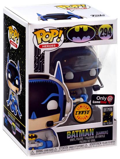 Funko DC Batman 80th POP! Heroes Batman Exclusive Vinyl Figure #294 [Gamer, Chase]