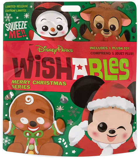Disney Wishables Merry Christmas Exclusive 5-Inch Micro Plush Mystery Pack [1 RANDOM Figure]