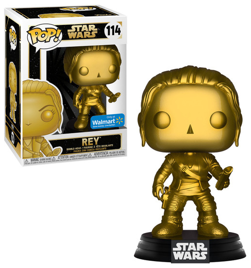 Funko POP! Star Wars Rey Exclusive Vinyl Figure #114 [Gold Metallic]