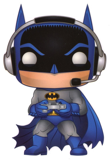 Funko DC Batman 80th Batman Exclusive 3.25-Inch Sticker [Gamer]