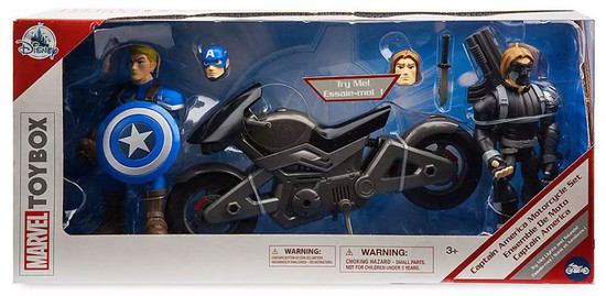 Disney Marvel Toybox Captain America, Motorcycle & Winter Soldier Exclusive Action Figure Set