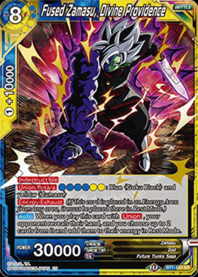 Dragon Ball Super Collectible Card Game Assault of the Saiyans Super Rare Fused Zamasu, Divine Providence BT7-123