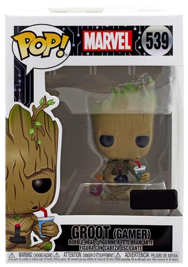 Funko POP! Marvel Groot Exclusive Vinyl Bobble Head #539 [Gamer]