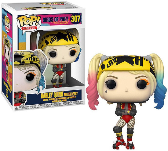 Funko DC Birds of Prey POP! Heroes Harley Quinn Roller Derby Vinyl Figure #307