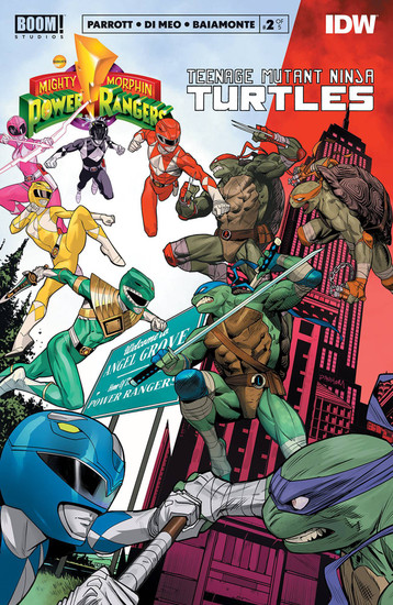 Boom Studios Power Rangers & Teenage Mutant Ninja Turtles #2 Comic Book