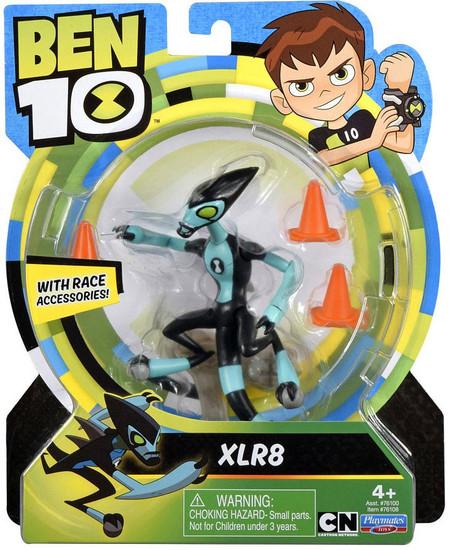 Ben 10 Basic XLR8 Action Figure [Race Accessories, Damaged Package]