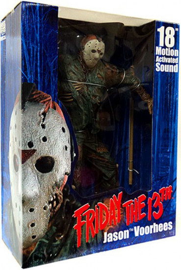 NECA Friday the 13th Jason Voorhees Action Figure [Deluxe Motion Activated with Sound, Damaged Package]