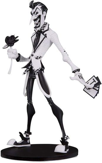 "DC Artist Alley The Joker 6.75-Inch PVC Collector Statue [Hainau ""Nooligan"" Saulque, Black & White Variant]"