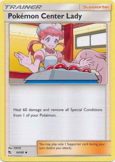 Trading Card Game Hidden Fates Uncommon Pokemon Center Lady #64