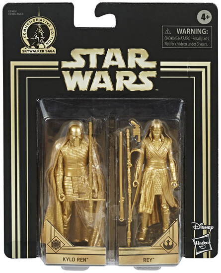 Star Wars The Last Jedi Skywalker Saga Kylo Ren & Rey Action Figure 2-Pack [Gold Figures]