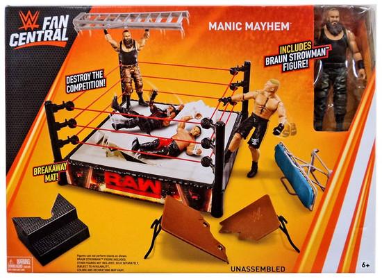 WWE Wrestling Fan Central Manic Mayhem Ring & Action Figure [Braun Strowman, Damaged Package]