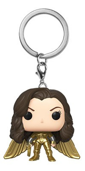 Funko DC Wonder Woman 1984 Movie POP! Heroes Wonder Woman Gold No Helmet Keychain