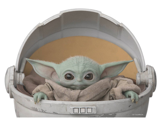 Star Wars The Mandalorian The Child (Baby Yoda / Grogu) Window Decal [Hover Crib]