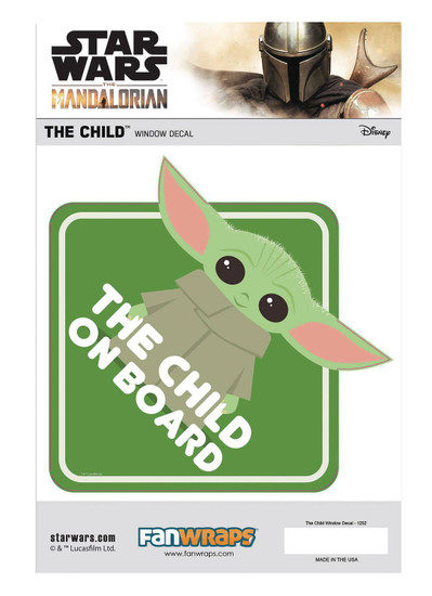 Star Wars The Mandalorian The Child (Baby Yoda / Grogu) Window Decal [Baby on Board]