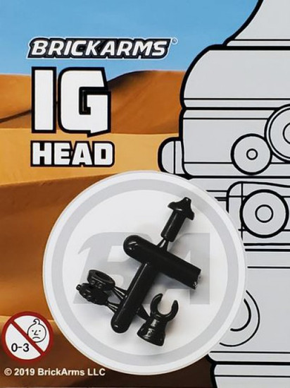 BrickArms Star Wars IG Head 2.5-Inch [Black]