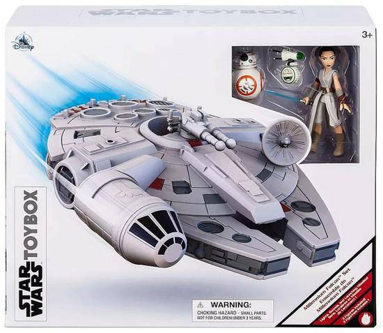 Disney Star Wars Toybox Millennium Falcon Exclusive Playset [Rey, BB-8 & D-O]