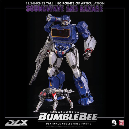 "Transformers Bumblebee Movie Soundwave & Ravage 11.2-Inch 11.2"" Deluxe Scale Figure [2018 Movie Version] (Pre-Order ships January)"