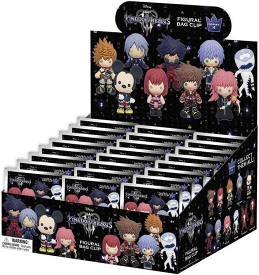 Disney 3D Figural Keyring Kingdom Hearts Series 4 Mystery Box [24 Packs]