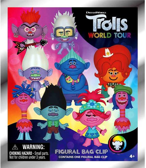 3D Figural Keyring Trolls World Tour Series 1 Mystery Pack [1 Figure]