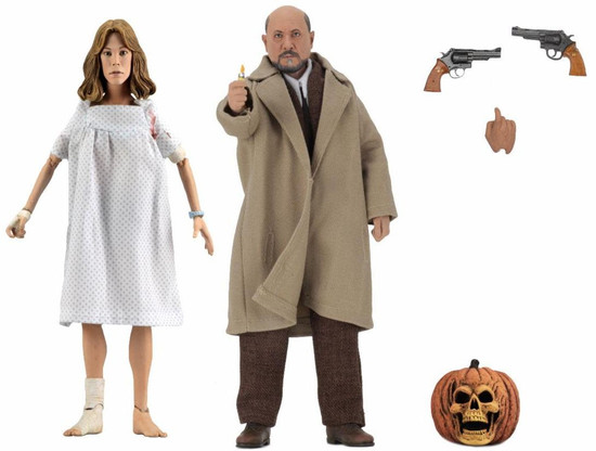 NECA Halloween 2 Doctor Loomis & Laurie Strode Action Figure 2-Pack [1981] (Pre-Order ships October)